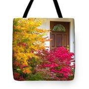 Front Yard Autumn Decor, Quincy California Tote Bag
