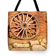 Frontier Wagon Wheel Tote Bag