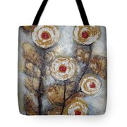 Frosen Roses Tote Bag by Elena  Constantinescu