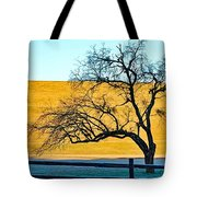 Frost Below The Tree Tote Bag