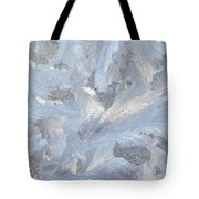 Frost Crystal On Window Tote Bag