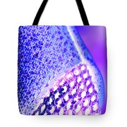 Frost Crystals Abstract Tote Bag