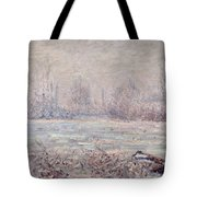 Frost Near Vetheuil Tote Bag