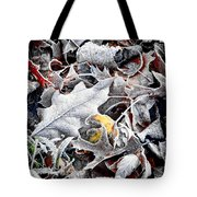 Frost On Leaves 1 Tote Bag