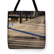 Frost On The Docks Tote Bag