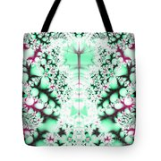 Frost On The Grass Fractal Tote Bag