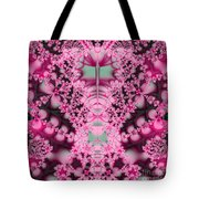 Frost On The Roses Fractal Tote Bag