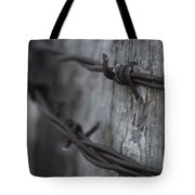 Frost On The Wire Tote Bag