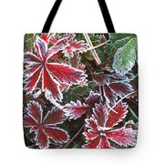 Frost On Wild Strawberry Tote Bag