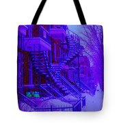Frost On  Winding Staircases Tote Bag