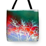 Frost Shrouded Tree Tote Bag