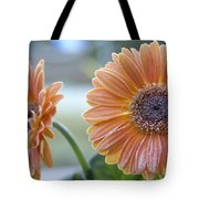 Frosted Gerberas Tote Bag