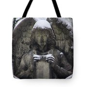 Frosted Stone Angel Tote Bag