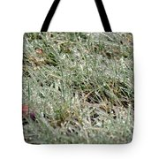 Frosted Grass Tote Bag