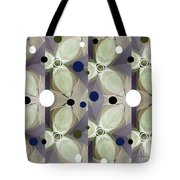 Frosted Green Flower Tote Bag