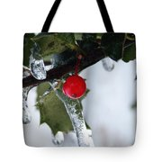 Frosted Holly Tote Bag