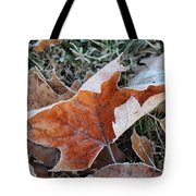 Frosted Leafs Tote Bag
