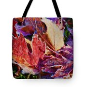 Frosted Leaves #2 - Painted Tote Bag