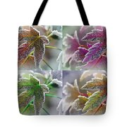 Frosted Maple Leaves In Warm Shades Tote Bag