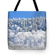 Frosted Mountainside Tote Bag