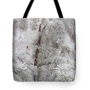 Frosted Pines Tote Bag