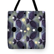 Frosted Purple Flower Tote Bag