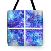 Frosted Window Abstract Collage Tote Bag