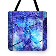 Frozen Castle Window Blue Abstract Tote Bag