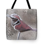 Frosty Cardinal Tote Bag