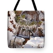 Frosty Cascades Tote Bag