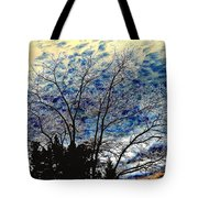 Frosty Fall Tree Tote Bag