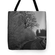 Frosty Farm Road Tote Bag
