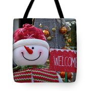 Frosty Greetings Tote Bag