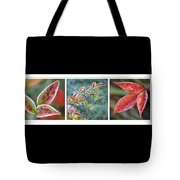 Frosty Leaves Tote Bag
