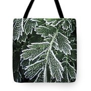 Frosty Leaves Macro Tote Bag
