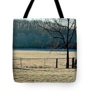 Frosty Morning Winter Landscape Tote Bag