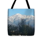 Frosty Mountain Top View From Rancho Cucamonga Ca. Tote Bag
