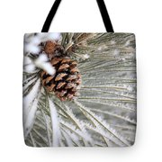 Frosty Norway Pine Tote Bag