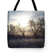 Frosty Rise Tote Bag