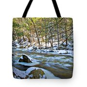 Frosty River Tote Bag