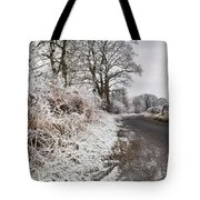 Frosty Road Tote Bag