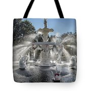 Frosty Savannah Winter Dream Tote Bag