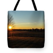Frosty Sunrise Tote Bag