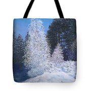 Frosty Trees Tote Bag
