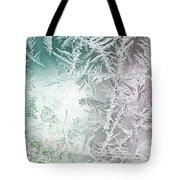 Frosty Windowpane Tote Bag