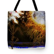 Frosty Winter Morning Tote Bag