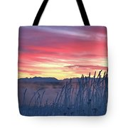 Frosty Winter Sunrise Tote Bag