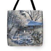 Frosty Winter Window Tote Bag