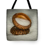 Frozen Acorn Cupule Tote Bag