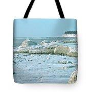 Frozen Beach Tote Bag